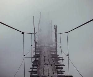 bridge and fog image