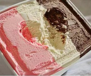 ice cream, heart, and chocolate image