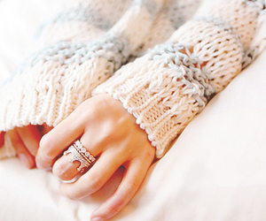ring, crown, and sweater image