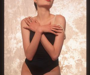 Angelina Jolie, beautiful, and pearls image