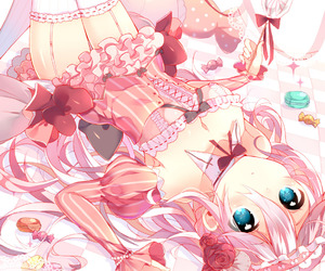 cute, pink, and anime image