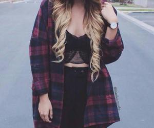 black, blouse, and hair image
