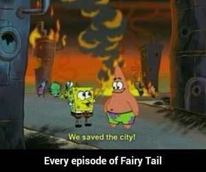 spongebob, funny, and fairy tail image
