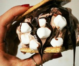 chocolate, marshmallows, and smore image