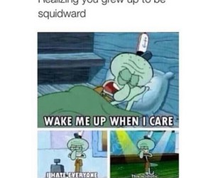 funny, squidward, and spongebob image