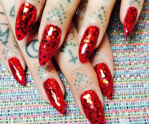claws, nails, and red nails image