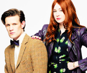 dw, matt smith, and amy pond image