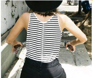 girl, bike, and fashion image