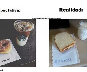 food, reality, and starbucks image
