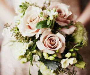 brides, flowers, and wedding image