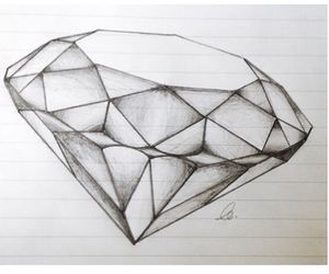 draw, art, and diamond image