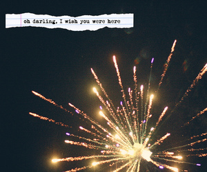 fireworks, darling, and quote image