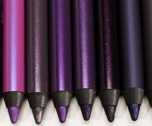 purple, make up, and makeup image