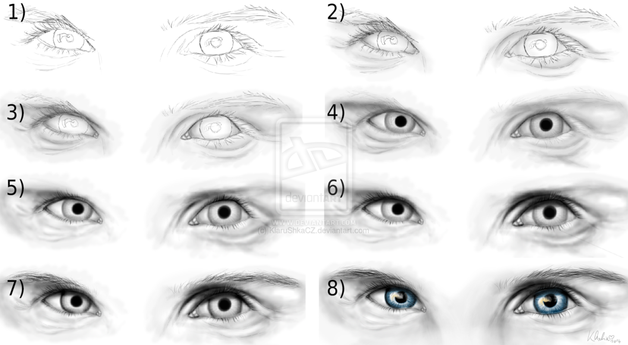 How to draw mens eyes on we heart it