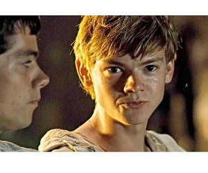newt, thomas sangster, and the maze image