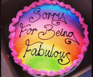 cake, fabulous, and rainbow image