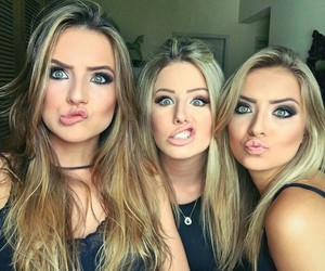girl, beautiful, and friends image