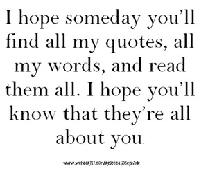 hope, words, and love quote image