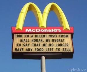 McDonalds, one direction, and niall horan image