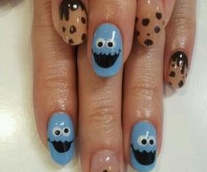 nails, cookie monster, and blue image