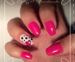 heart, nails, and pink image