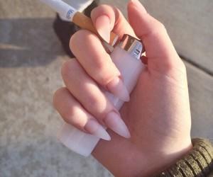 nails, cigarette, and smoke image