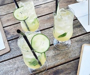 drink, summer, and food image