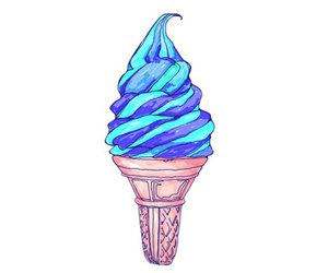 overlay, ice cream, and blue image