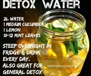 healthy, water, and detox image
