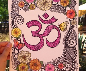 hippie, om, and draw image