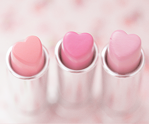 pink, lipstick, and heart image