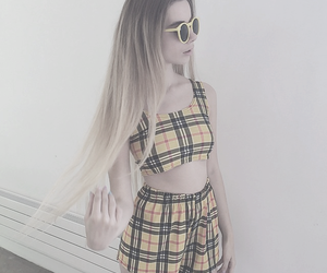 yellow, hair, and grunge image