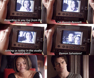 funny, damon salvatore, and the vampire diaries image