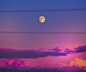 moon, clouds, and photography image