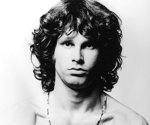 black and white, the doors, and handsome image