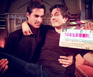ian somerhalder, chris wood, and the vampire diaries image