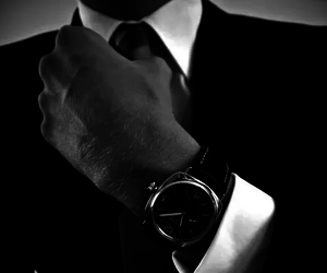 watch, suit, and man image