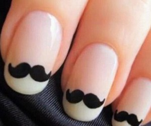 mustaches and uñas image