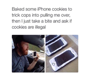 cops, funny, and i phone 6 image