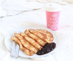 breakfast, coffee, and crepes image