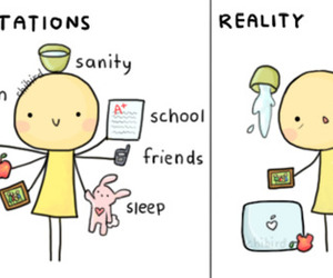reality, expectations, and life image