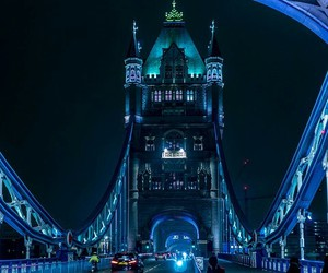 london, night, and blue image