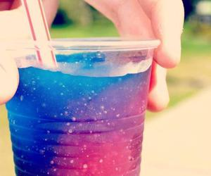 drink, galaxy, and blue image