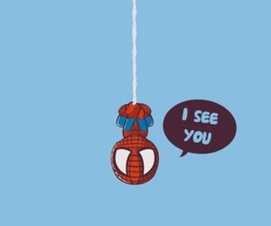 spiderman, wallpaper, and i see you image