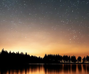 lights, night, and sea image