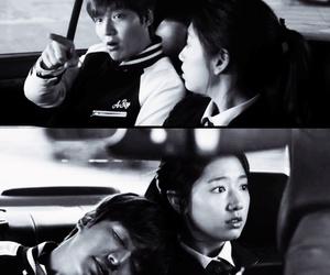black and white, korean, and lee min ho image