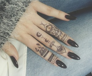 almond, henna, and nails image
