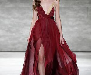 catwalk, fashion, and gown image