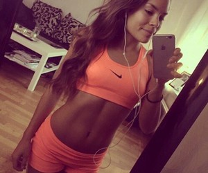 fitness, girl, and nike image