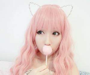 ulzzang, cute, and pink image